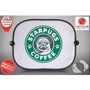 Mopszos Autós Napellenző Napvédő -  Mopsz Starpugs Café 1 mintával