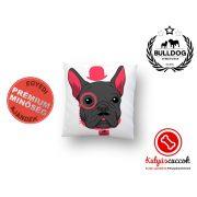 Párna Bulldog Rózsaszín kalapos francia bulldog 35x35cm