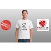 Bulldogos Férfi Póló - Bulldog Streetwear I Love Bulldogs francia mintával