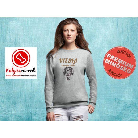 Vizslás Női pulóver kapucnival - Vizsla Magyar Vadász mintával