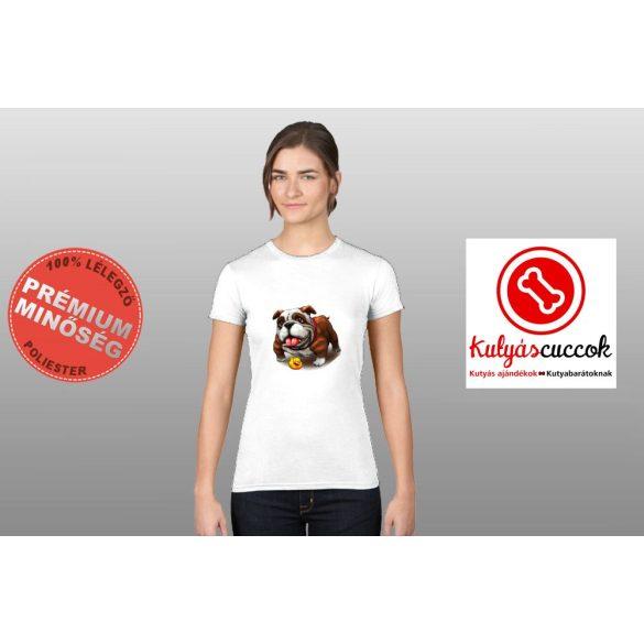 Bulldogos Női Póló - Bulldog gumikacsás mintával