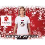 Bulldogos Karácsonyi Női Póló - Bulldog Streetwear French Bull Bad Santa Candy mintával