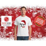 Bulldogos Karácsonyi Férfi Póló - Bulldog Streetwear Santa Frenchie mintával