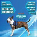 Aqua Coolkeeper hűtőhám, speciális hűtőhám kutyáknak Törzs átmérője: 74-104 cm Méret: XL  - Pacific Blue (Sötétkék)