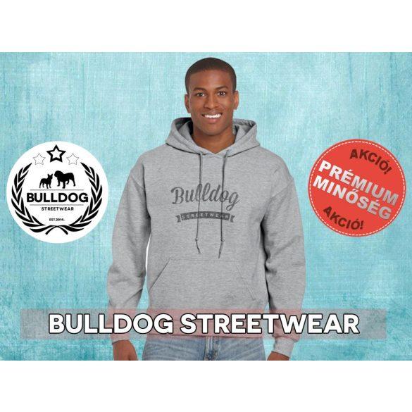 Bulldog Streetwear Férfi kapucnis pulóver - BSW Vintage logó bulldogos mintával Több színben