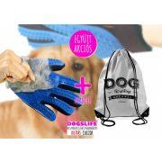 Ötujjas szőrápoló kesztyű kutyáknak + Dog Walking Apparel Hátizsák SZETTBEN AZ EGYIK AJÁNDÉK!