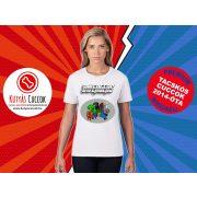 Tacskós Női Póló - Tacsi Dachshund Comic Dwengers Tacskós Cuccok White Collection mintával