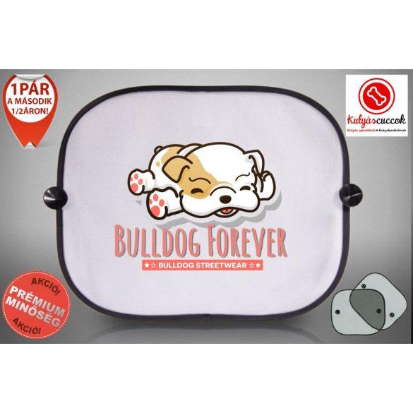 Autós Napellenző - Bulldog Forever - Rózsaszín