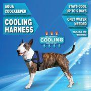 Aqua Coolkeeper hűtőhám, speciális hűtőhám kutyáknak Törzs átmérője: 46-63 cm XS Pacific Blue (Sötétkék)