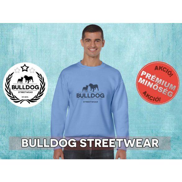 Bulldog Streetwear Férfi környakas pulóver - BSW Klasszikus logó mintával Több színben