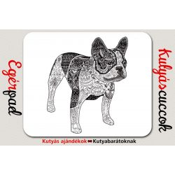 Bulldogos Egérpad - Bulldog Art fekete grafikával