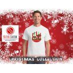 Tacskós Karácsonyi Férfi Póló - Dachshund Merry Christmas mintával