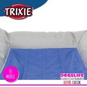 Trixie Luxury Hűsítő zselés fekhely 100x65 cm-es Kék (hűsítő matrac/hűtőmatrac/hűtőtakaró/hűtőpléd)