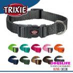Trixie Prémium Színes Nyakörv S-M, 30-45cm/15mm - Erős, strapabíró szövéssel több színben