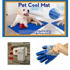 Pet Cool Mat Hűsítő matrac 65x50 + Pest Repelling Aid Rovarriasztó + Ötujjas Szőrápoló kesztyű AKCIÓS CSOMAG RAKTÁRRÓL!