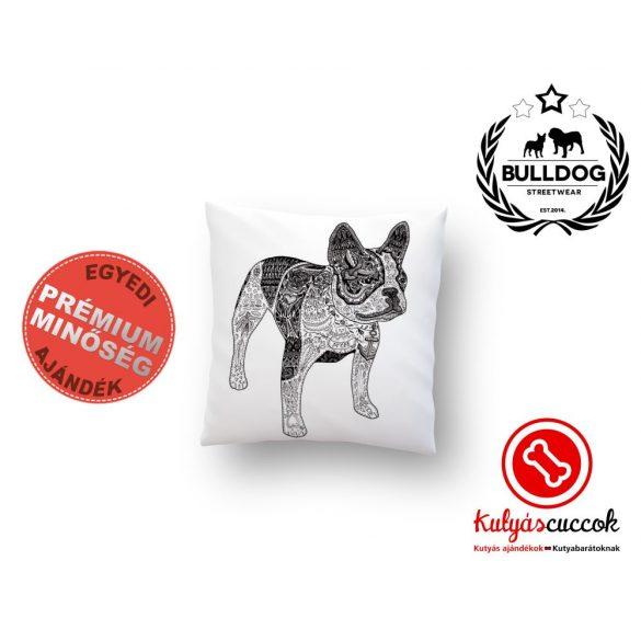 Párna Bulldog Art Fekete-fehér francia bulldog 35x35cm