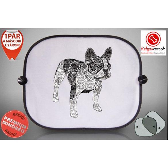 Autós Napellenző - BulldogArt Fekete-fehér