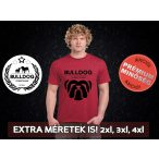 Bulldog Streetwear Férfi Póló - Big Bull mintával Extra méretben is! 2XL, 3XL, 4XL is! Szín: Heather Cardinal