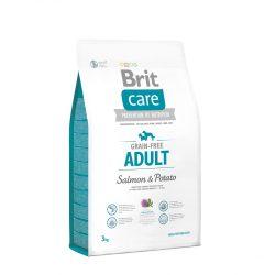Brit Care Hypoallergenic Adult 3kg Gabonamentes Száraztáp Burgonyás-Lazacos Grain Free Salmon&Potato