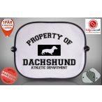 Tacskós Autós Napellenző Napvédő - Tacskó Property mintával