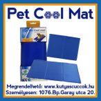 Pet Cool Mat Hűsítő zselés matrac 40x50 cm-es Kék (hűsítő matrac/hűtőmatrac/hűtőtakaró/hűtőpléd)
