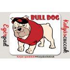 Bulldogos Egérpad - Bulldog Piros pólóban