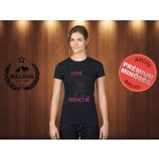 Bulldog Streetwear Női Póló - I Love My Frenchie mintával Szín: Fekete