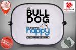 Autós Napellenző - Bulldog Streetwear My Bulldog Makes Me Happy Angol Bulldoggal