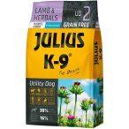 Julius-K9 GF Hypoallergenic Utility Dog Puppy & Junior Lamb & Herbals - Gabonamentes Szuperprémium táp Báránnyal és Gyógynövényekkel 10kg.