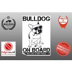Autós Francia Bulldog Matrica - Bulldog Streetwear Francia Bulldog Minta3  20x15cm
