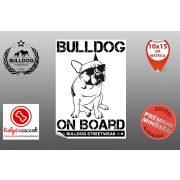 Autós Francia Bulldog Matrica - Bulldog Streetwear Francia Bulldog Minta3  Több méretben