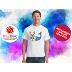 Bulldogos Férfi Póló - BulldogArt Mermaid Bulldog Sellő mintával Bulldog Streetwear BulldogosCuccok