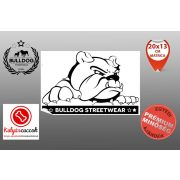 Autós Angol Bulldog Matrica - Bulldog Streetwear Angol Bulldog Minta  Több méretben