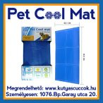 Pet Cool Mat Hűsítő zselés matrac 90x50 cm-es Kék (hűsítő matrac/hűtőmatrac/hűtőtakaró/hűtőpléd)