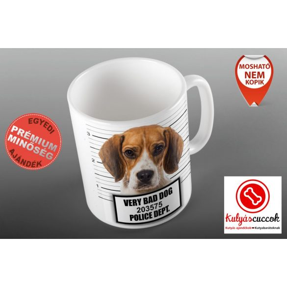 Bögre - Beagle Bad Dog grafikával