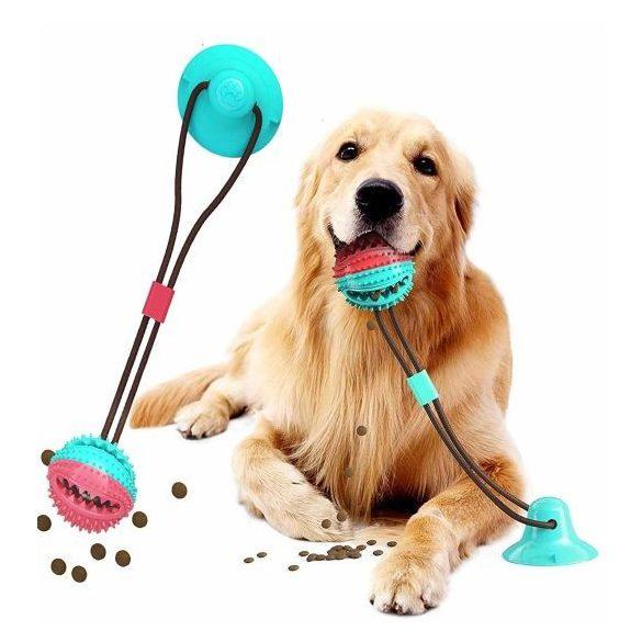 Multifunkciós Fogtisztítós Készségfejlesztő játék tapadókoronggal kutyáknak - A MÁSODIK FÉLÁRON