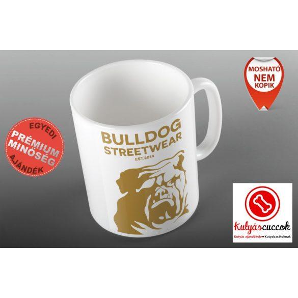 Bulldogos Bögre - Bulldog Streetwear Est.2014. drapp grafikával