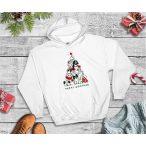 Kutyás Karácsonyi Férfi Pulcsi - Merry Christmas Merry Woofmas mintával