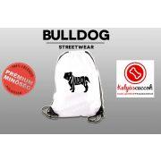 Tornazsák - Bulldog Fekete sziluett mintával