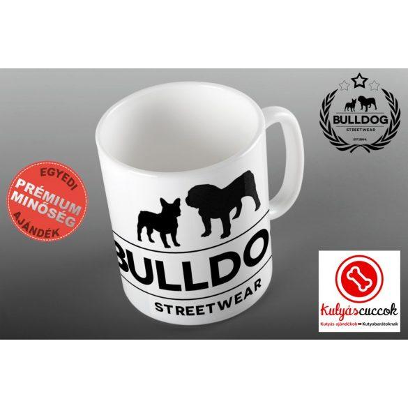 Bulldogos Bögre - Bulldog Streetwear klasszikus logo grafikával
