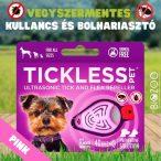Tickless - Vegyszermentes ultrahangos kullancs- és bolhariasztó medál kutyáknak és macskáknak, TICKLESS - pink
