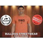 Bulldog Streetwear Férfi Póló - Peace, Love, Bulldog fekete mintával Különböző színben