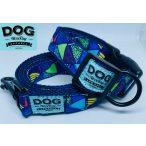 Dog Walking Apparel színes háromszögek nyakörv és póráz szett
