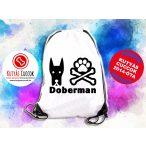 Dobermann Hátizsák - Doberman Csont és Tappancs mintával több színben