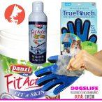 Dogs Life Skin Protect - Szőrápoló Csomag 3darabos (FitActive lazacolaj, True Touch kesztyű, FitActive Fit-A-Skin tabletta)