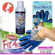 Dogs Life Skin Protect - Szőrápoló Csomag 3darabos (Brit Care lazacolaj, True Touch kesztyű, FitActive Fit-A-Skin tabletta)