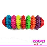 Dogs Life Kutyajáték színes gumis fogtisztító nagy - Játék egész nap