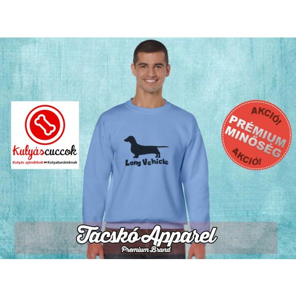 Tacskós Férfi környakas pulóver - Tacskó Long Vehicle mintával Több színben
