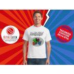 Tacskós Férfi Póló - Tacsi Dachshund Comic Dwengers Tacskós Cuccok White Collection mintával