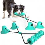 Multifunkciós Fogtisztítós Készségfejlesztő játék Dupla tapadókoronggal kutyáknak